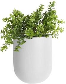 Matný biely nástenný keramický kvetináč PT LIVING Oval