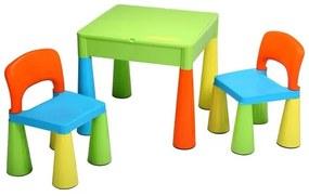 NEW BABY New Baby set Detská sada stolček a dve stoličky NEW BABY multi color Multicolor  