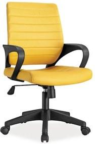 Expedo Kancelárska stolička KEEP, 56x90x57, žltá