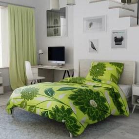 Krepové obliečky Púpava zelená