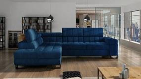 Luxusná sedacia súprava Lambada, modrá Roh: Orientace rohu Pravý roh