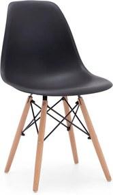 adf9d63ed894 29 EUR DREVONA30 Jedálenská stolička čierna plastová AMY