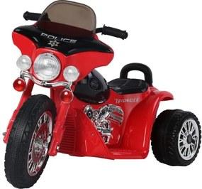 Dětská elektrická motorka Harley, červená