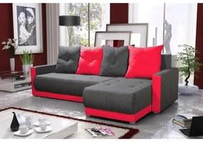 Elegantná sedacia súprava s opierkami LEONARD BIS, šedá + červená