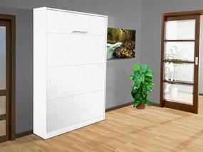 Nabytekmorava Sklápacia posteľ VS 3054 P - 200x90 cm nosnost postele: štandardná nosnosť, farba lamina: biela 113