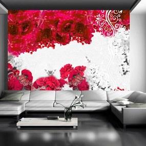 Fototapeta - Farby jari: červená 200x140 + zadarmo lepidlo