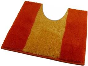 ROUTNER Kúpeľňová predložka ATHENA Oranžová 10305 - Oranžová / 60 x 60 cm WC s výkrojom 10305