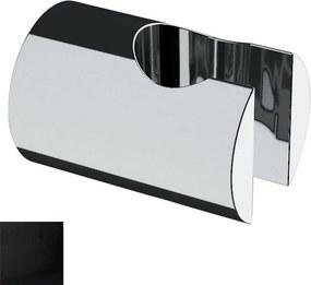 Sapho SD715 držiak sprchy, guľatý, čierny matný