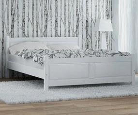 AMI nábytok Posteľ borovica Lena 180x200 biela