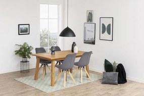 Dizajnová stolička Nascha, tmavo šedá tkanina