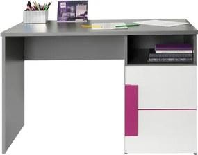 TEMPO KONDELA Lobete 21 pc stolík sivá / biela / fialová