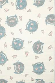 Detský kusový koberec Mačací krémový, Velikosti 100x150cm