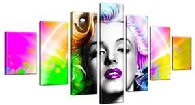 Obraz na plátne Dúhová Marilyn Monroe 210x100cm 2566A_7A