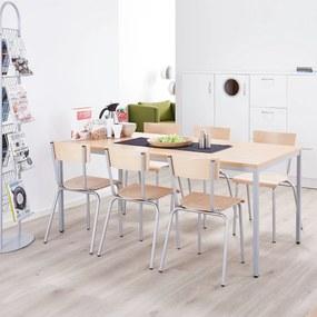 Jedálenský stôl Jamie, 1200x800 mm, bukový laminát / šedá
