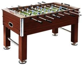 vidaXL Stolný futbal, oceľ 60 kg 140x74,5x87,5 cm, hnedý