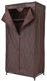 TZB Textilná šatníková skriňa Gallo - hnedá