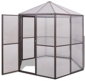 Hliníkový skleník, 240x211x232 cm