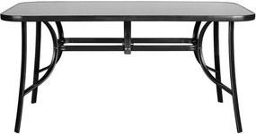 Sconto Záhradný stôl CORDOBA 4 antracit/čierna