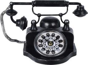 Koopman Stolné hodiny Old telephone, čierna