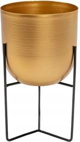 Stojan na kvetináč METAL zlatý 34 cm ovál TSHP20210