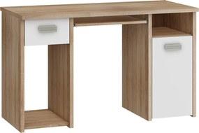 MEBLOCROSS Kitty KIT-01 pc stolík sonoma svetlá / biela