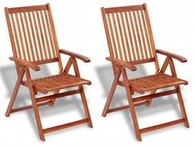 vidaXL Vonkajšia jedálenská stolička, 2 ks, akáciové drevo