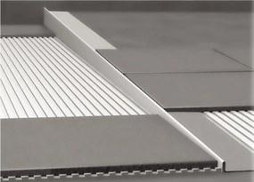 NEREZOVé SPRCHOVé žľABY Nerezová lišta pre vyspádovanie podlahy, hrúbka 12 mm, dĺžka 1000 mm, ľavá
