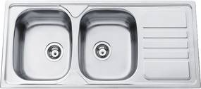 Sinks nerezový drez Okio 1160 DUO V matný