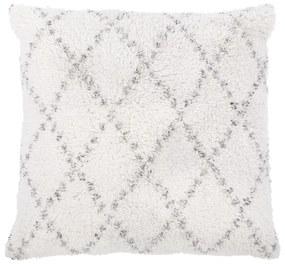 Bielo-sivý bavlnený dekoratívny vankúš Tiseco Home Studio Geometric, 45 x 45 cm
