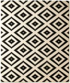 Čierny koberec Hanse Home Hamleti Diamond, 120 × 170 cm
