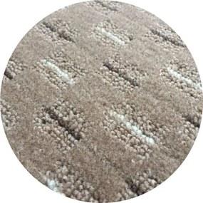 Vopi koberce Kusový koberec Valencia béžová kulatý - 400x400 (průměr) kruh cm