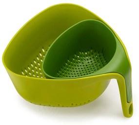 Zelené kompaktné cedidlo Joseph Joseph Colanders