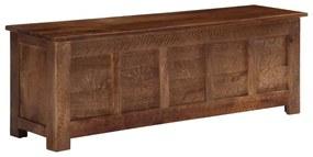 vidaXL Úložný box z mangovníkového dreva 120x30x40 cm