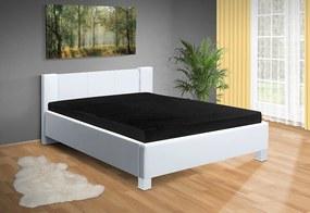 Nabytekmorava Moderná posteľ Fanny 140x200 cm matrac: bez matrace, farba čalúnenie: eko koža biela, úložný priestor: bez úložného priestoru