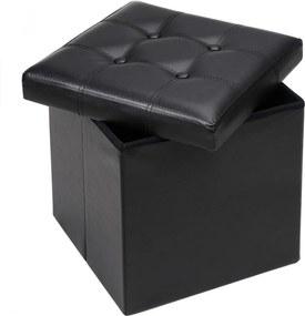 Úložný box D6837-40 Dekorhome Čierna