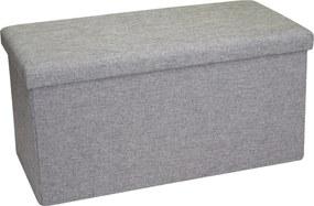 Lavice na sedenie s úložným priestorom sivá