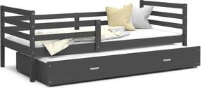 GL Racek P2 posteľ s prístelkou Color sivá - viac farieb Farba: Sivá, Rozmer: 190x80