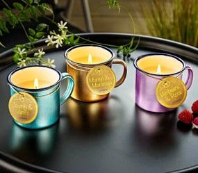 Vonné sviečky v plecháčikoch, 3 kusy