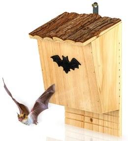 Domček pre netopiere, hniezdo, pomoc pri prezimovaní, celoročne obývateľný, píniové drevo