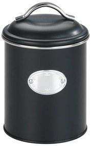 Čierna úložná dóza so vzduchotesným uzatváraním Wenko Nero, objem 1 l