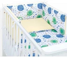 Mamo Tato 3-dielny set do postieľky s mantinelom - Púpavy modré Mamo Tato 89438