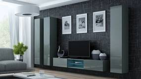 CAMA MEBLE Obývacia stena VIGO 18 Farba: sivá