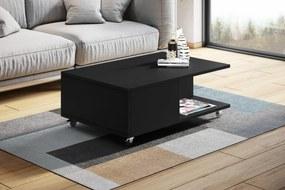 VIENNA čierny - konferenčný stolík na kolieskach