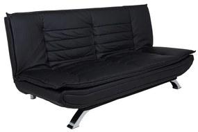 Dizajnová rozkladacia sedačka Alun, 196 cm, čierna