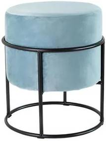 TORO Stolička TORO 40cm modrý zamat