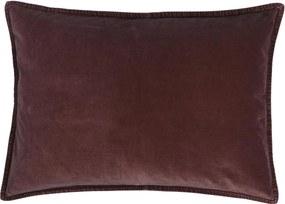 IB LAURSEN Zamatová obliečka na vankúš Aubergine 50x70 cm