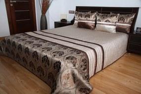 DomTextilu Luxusný prehoz na posteľ odtiene hnedej farby s motívom Šírka: 220 cm | Dĺžka: 240 cm 2478-104037