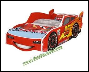 Detská posteľ auto Cars Lightning Mcqueen Červené 140x70