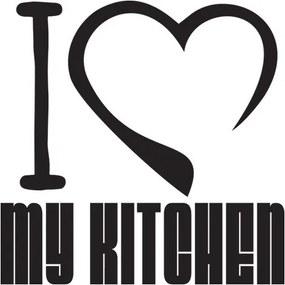Nálepka na stenu I love my kitchen 50x50cm NS3538A_1GE