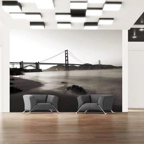 Fototapeta - San Francisco: most Golden Gate v čiernej a bielej 200x154 + zadarmo lepidlo